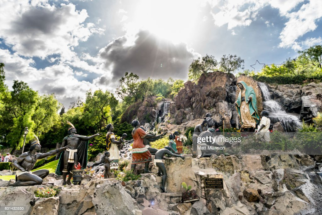 The Virgin of Guadalupe on Tepeyac Hill Mexico City CDMX : Stock Photo