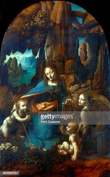 'The Virgin of the Rocks' 14911519 The Virgin with the Infant Saint John the Baptist adoring the Infant Christ accompanied by the archangel Uriel...