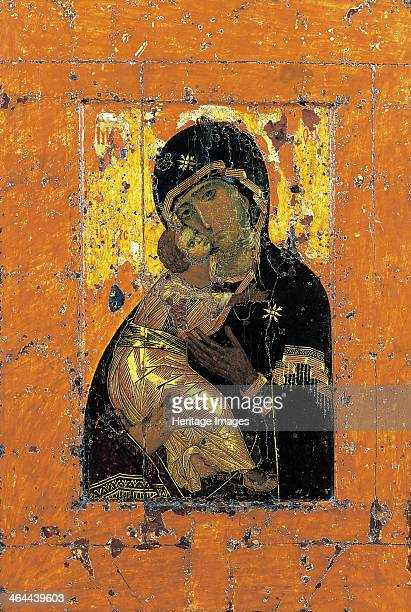 The Virgin of Vladimir Byzantine icon early 12th century Found in the collection of the State Tretyakov Gallery Moscow