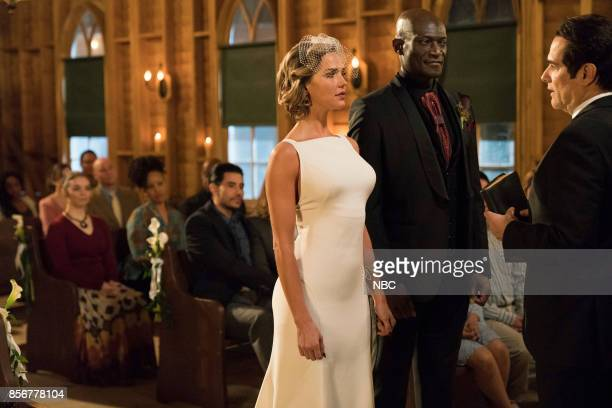 TEXAS 'The Virgin Sacrifice' Episode 110 Pictured Arielle Kebbel as Olivia Peter Mensah as Lemuel Yul Vázquez as Rev Sheehan