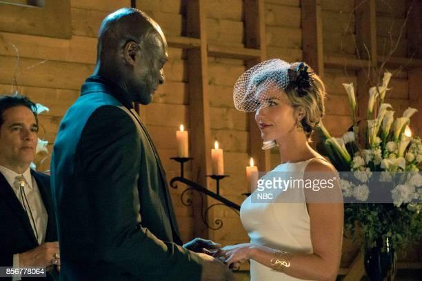 TEXAS 'The Virgin Sacrifice' Episode 110 Pictured Yul Vázquez as Rev Sheehan Peter Mensah as Lemuel Arielle Kebbel as Olivia