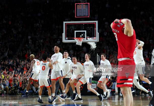 The Virginia Cavaliers celebrate their teams 85-77 win over the Texas Tech Red Raiders to win the the 2019 NCAA men's Final Four National...