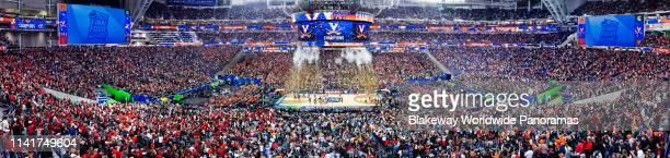 The Virginia Cavaliers celebrate their teams 85-77 win over the Texas Tech Red Raiders to win the 2019 NCAA men's Final Four National Championship...