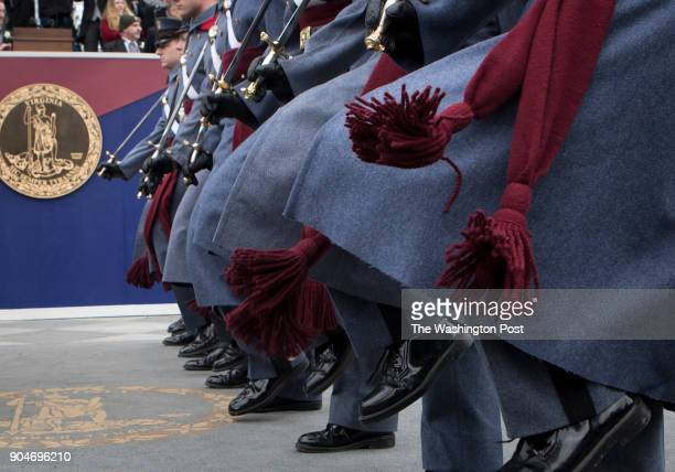 The Virginia Military Institute Corps of Cadets Governor Ralph Northam's alma mater march during the inaugural parade Saturday January 13 2018 in...