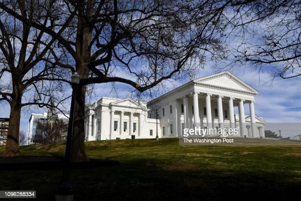 The Virginia State Capitol is seen February 08 2019 in Richmond VA The top three Democrats in the Virginia legislature Virginias Gov Ralph Northam Lt...