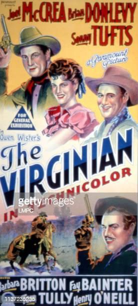 The Virginian poster Joel McCrea Barbara Britton Sonny Tufts 1946