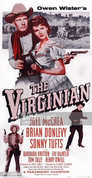 The Virginian poster US reissue poster art top from left Joel McCrea Barbara Britton bottom from left Sonny Tufts Brian Donlevy 1946