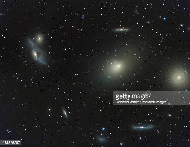 The Virgo Cluster, a cluster of galaxies in the constellation Virgo.