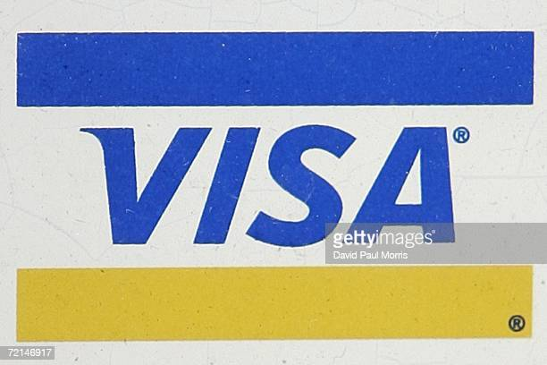 The Visa brand is seen on a restaurant window October 11 2006 in Foster City California Visa announced today that they are merging Visa USA Visa...