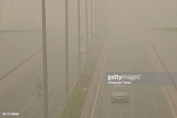 The visibility in the city dropped to 200300 meters as vehicles crawled amid the thick smog as the whole city is engulfed in heavy smog air quality...