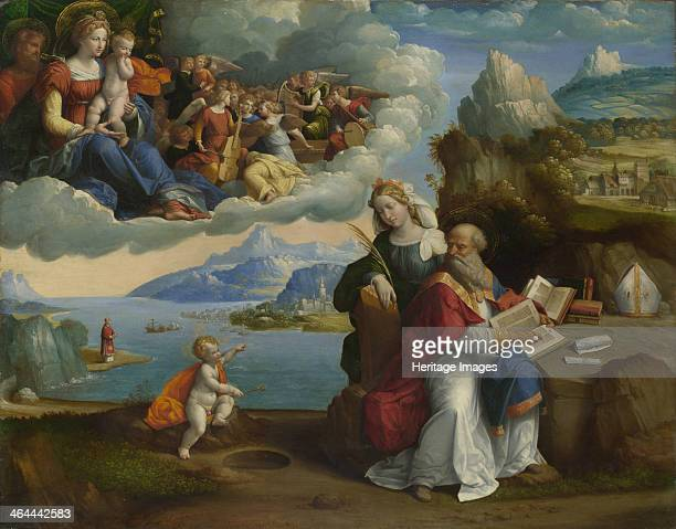 The Vision of Saint Augustine c 1520 Found in the collection of the National Gallery London
