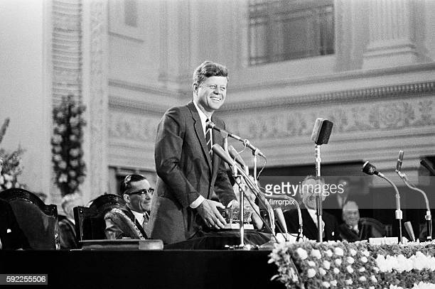 The visit of American President John F Kennedy to Ireland July 1963