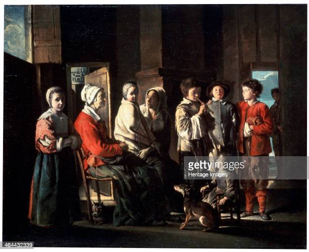 'The Visit to the Grandmother' 1645 Found in the collection of the State Hermitage St Petersburg