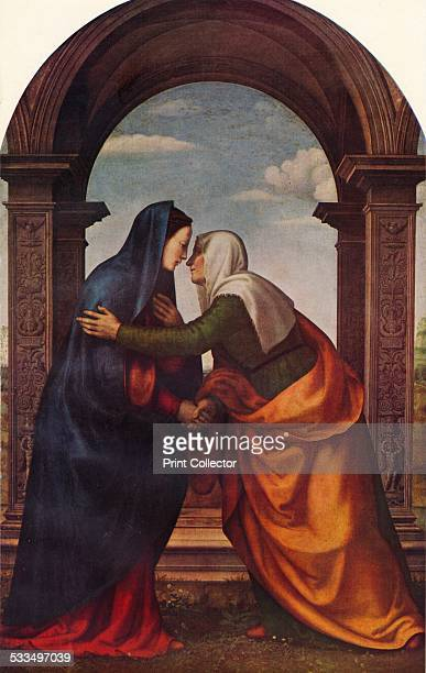 The Visitation, 1503. Painting held in the Uffizi Gallery, Florence. From World-Famous Paintings edited by J. Greig Pirie [W. & G. Foyle, Ltd,...
