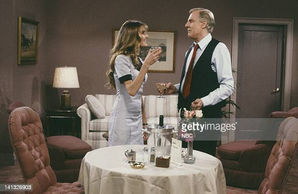 CHEERS The Visiting Lecher Episode 22 Air Date Pictured Fabiana Udenio as Maria John McMartin as Dr Lawrence Crandell Photo by NBCU Photo Bank
