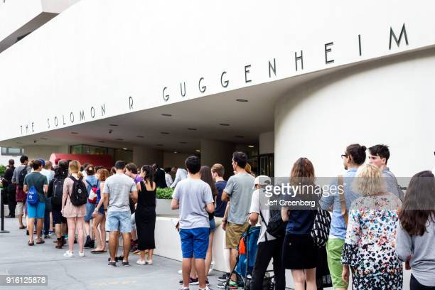 The visitor line outside the Guggenheim Museum