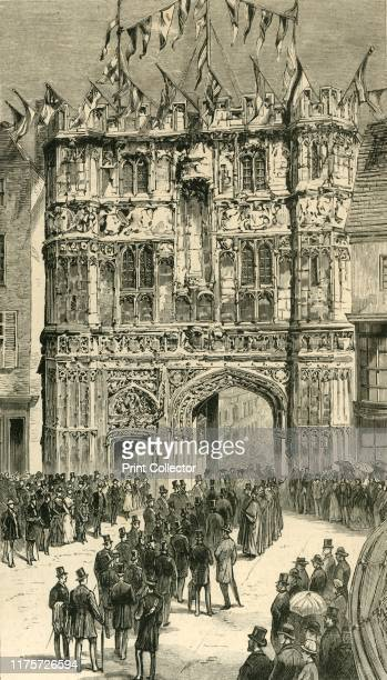 The Visitors Being Introduced To The Dean 'Colonial and Indian Visitors at Canterbury' 1886 'A large party of Colonists and Indians connected with...