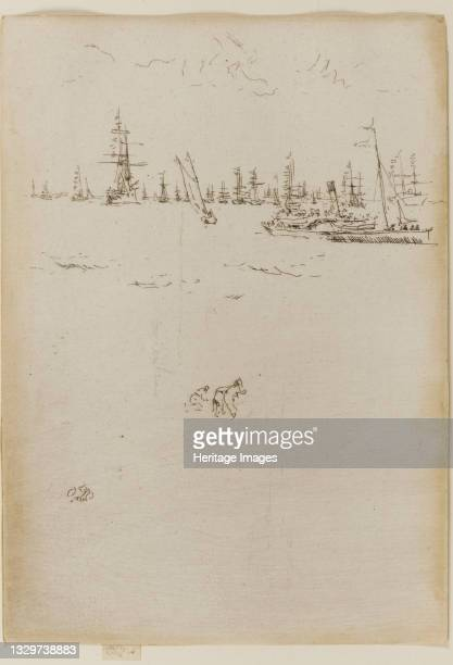 The Visitors' Boat, 1887. Artist James Abbott McNeill Whistler.