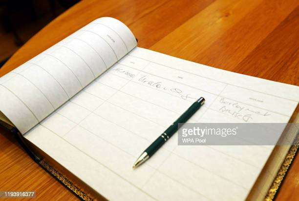 The visitors book that has been signed by European Commission President Ursula von der Leyenthe at Government Buildings on January 15 2020 in Dublin...