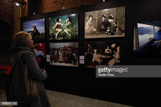 The visitors looking at the photo during the 'Fashion' exhibit From 4 February to 2 May 2016 Palazzo Madama hosts the photo exhibition called...