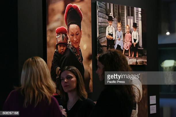 The visitors looking at the photos during the 'Fashion' exhibit From 4 February to 2 May 2016 Palazzo Madama hosts the photo exhibition called...