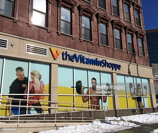 The Vitamin Shoppe, offering specialty health and nutritional support items, displaying its corporate logo and signage at a store located in Boerum...