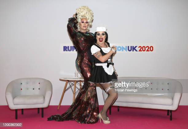 The Vivienne and Baga Chipz at RuPaul's DragCon UK presented by World Of Wonder at Olympia London on January 18 2020 in London England