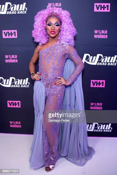 The Vixen attends 'RuPaul's Drag Race' Season 10 Meet The Queens at TRL Studios on March 21 2018 in New York City