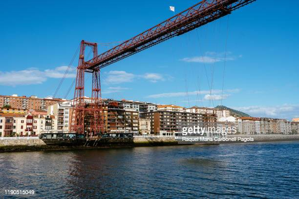 The Vizcaya bridge joins the towns of Portugalete and Getxo.