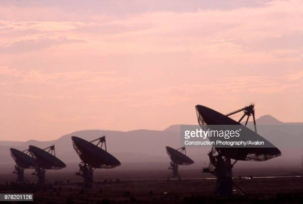 The VLA in one of New Mexico's observatory where scientists are seeking extraterrestrial life in the universe with the help of radio waves, Magdalena...