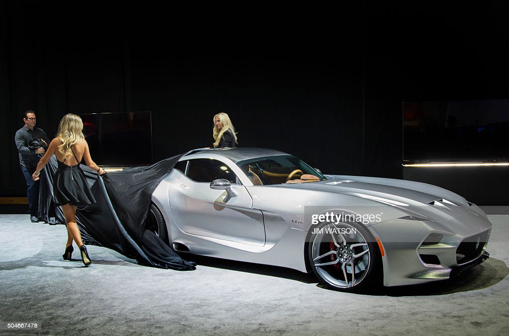 The VLF Coupe is unveiled during the VLF press conference at the North American International Auto Show in Detroit, Michigan, January 12, 2016.