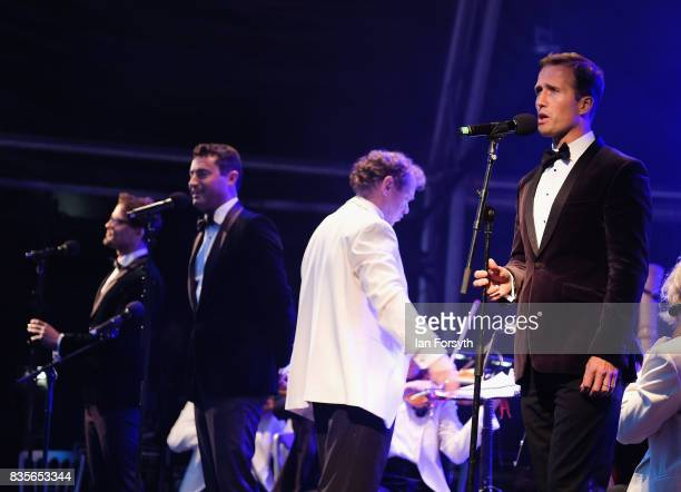 The vocal group Blake perform during the annual Castle Howard Proms Spectacular concert held on the grounds of the Castle Howard estate on August 19...