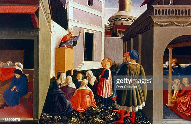 'The Vocation of St Nicholas' 1437 The birth of St Nicholas St Nicholas preaching three poor girls whose dowries he paid to save them from...