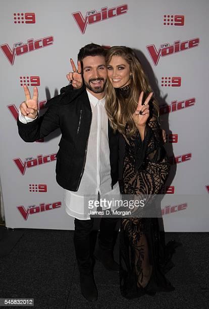 The Voice Australia winner Alfie Arcuri with his celebrity mentor Delta Goodrem on July 10 2016 in Sydney Australia