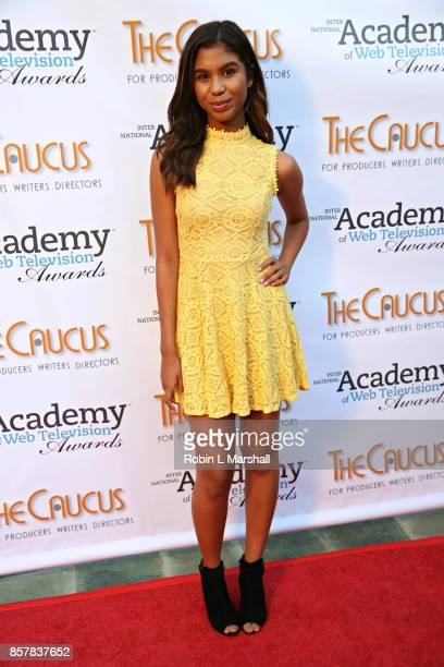 'The Voice' finalist Aliyah Moulden attends the 5th Annual International Academy of Web Television Awards at Skirball Cultural Center on October 4...