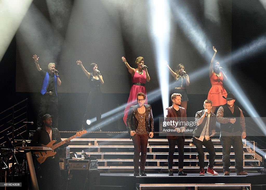 The Voice finalists perform during The Voice 2014 Tour at The Beacon Theatre on July 7, 2014 in New York City.