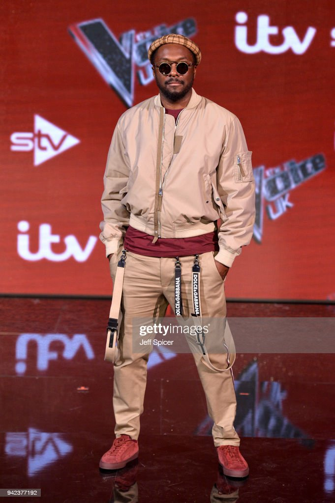 The Voice Judge will.i.am attends the pre-final event for 'The Voice' at Elstree Studios on April 5, 2018 in Borehamwood, England.