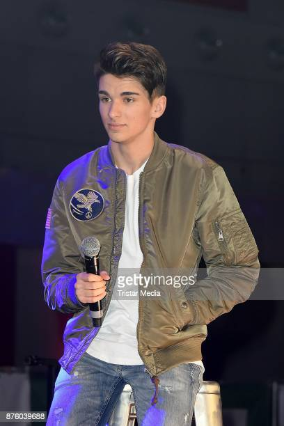 The Voice of Germany Talent Miguel Fialho attends the Stylorama on November 18 2017 in Dortmund Germany