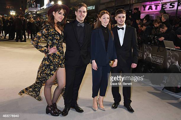 The Voice UK contestants Esmee Denters Steve McCrorie Lucy O'Bryne and Joe Woolford attend the UK Premiere of 'Fifty Shades Of Grey' at Odeon...