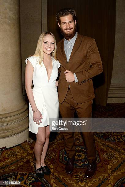 The 'Voice winner and BOBS by Skechers celebrity spokesperson Danielle Bradbery and actor Andrew Garfield attend the 10th Annual Worldwide Orphans...