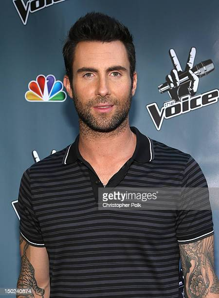 The Voice's Adam Levine attends the NBCUniversal's 'The Voice' Press Junket and cocktail reception on August 12 2012 in Los Angeles California