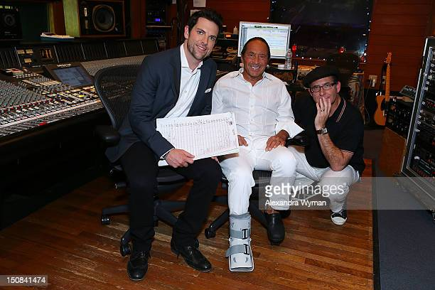 The Voice's Chris Mann Legendary Crooner Paul Anka Photo and Producer Ron Fair at a Photo Call held at Conway Recording Studios on August 27 2012 in...