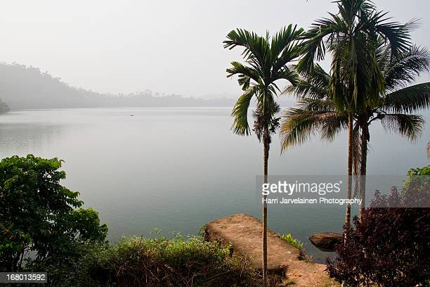 The volcanic Barombi Mbo Lake, near Kumba, Cameroo