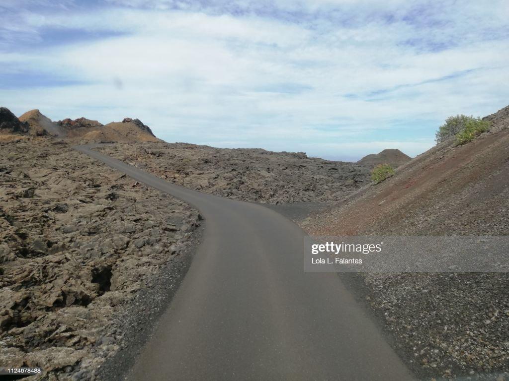 The volcanos route, Timanfaya : Foto de stock