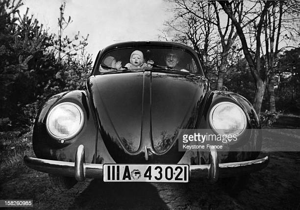 The Volkswagen Beetle produced by the German automaker Volkswagen during the end of the forties in Germany
