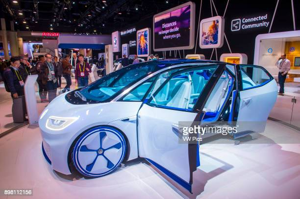 The Volkswagen booth at the CES Show in Las Vegas CES is the world's leading consumerelectronics show