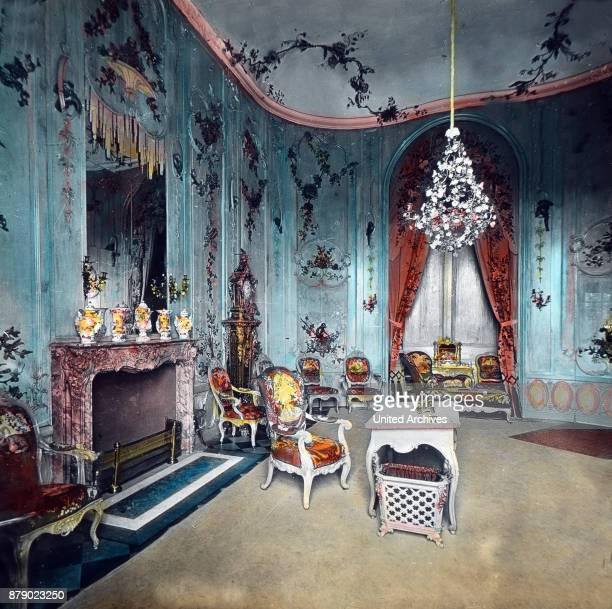 The Voltaire room in the Sanssouci Palace in Potsdam near Berlin