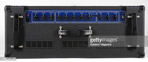The volume and tone controls of a Vox AC30VR electric guitar amplifier during a studio shoot for Guitarist Magazine March 1 2010