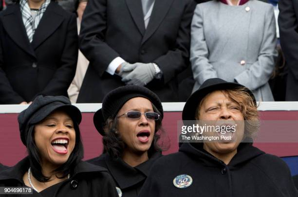 The Volunteer Choir sings 'America the Beautiful' during the Inauguration ceremony Saturday January 13 2018 in Richmond Virginia