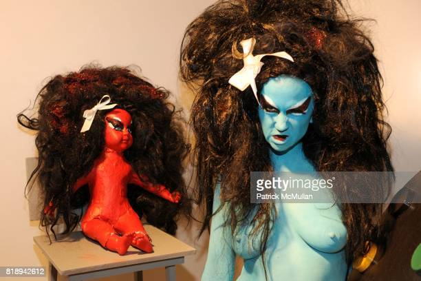 The Voluptuous Horror of Karen Black attends M*A*C Cosmetics presents Kembra Pfahler and The Voluptuous Horror of Karen Black at Dietch Projects on...